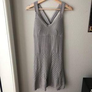 Cross back crochet dress